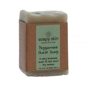 Natural Handmade Peppermint Guest Soap