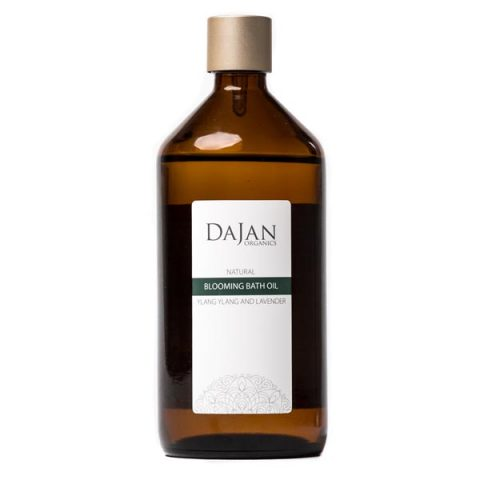200ml of Ylang Ylang blooming bath oil in an amber bottle by Soapy Skin Ltd