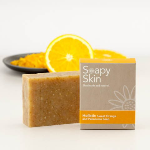 Soapy Skin Holistic Sweet Orange and Palmarosa Soap Lifestyle