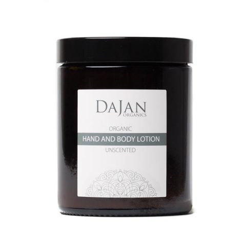 An Organic Hand and Body Lotion tha quickly absorbs into the skin, leaving it soft, smooth and hydrated. Unscented, and suitable for sensitive skin. Packaged in an glass amber jar.