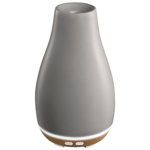 Ellia Blossom Ultrasonic Diffuser in grey ceramic