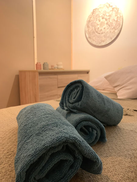 Image showing the inside of the Dajan Organics treatment room. massage bolton town centre